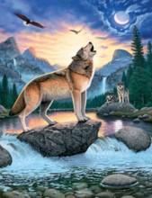 R-O3.1 X208 Diamond Painting Set Wolf 40x30cm