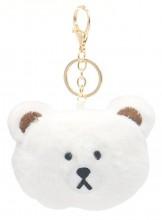 S-G4.2 KY2035-027G Keychain Fluffy Bear 9x7x3cm White
