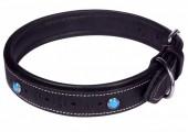 H-D20.2 MTDC-004 Leather Dog Collar Black XXS 39x2cm