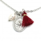 F-F8.2 N532-003S Necklace Northern Star and Tassel Silver