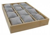 Z-A3.5 PK328-005 Wooden Box with 12 Pillows 35x24x4.5cm