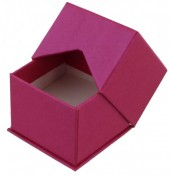 X-N6.1   Luxury Giftbox for Rings 5x5x4cm Pink 10pcs