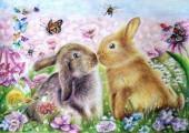 R-D2.2 GX566 Diamond Painting Set Rabbits 40x30cm