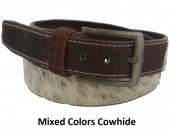 S-B8.1 Cowhide Leather Belt 4x90cm Adjustable 71-81cm Mixed Colors