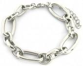 E-C7.3 B2019-015S Metal Chain Bracelet Silver