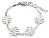 E-C6.2  B2053-011 S. Steel Bracelet Flowers 14-17cm For Kids