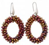 E-C23.2 E007-001 Facet Glass Beads 4.5x3.5cm Shiny