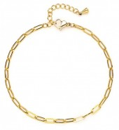 D-F8.2 B020-005G S. Steel Chain Bracelet Gold