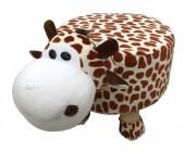 Y-D6.3  STOOL506-002 Plush Stool Giraffe