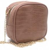 Y-C1.5 BAG535-001C Crossbody Bag Croco 18x18x8.5cm Pink