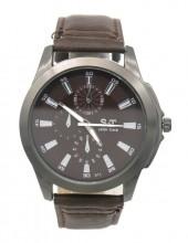 A-C21.2 W523-011D Quartz Watch with PU Strap 45mm Brown