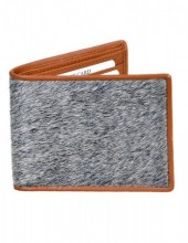 C-A22.3  Leather Wallet with Cowhide Brown with Mixed Color Cowhide 9x11.5cm